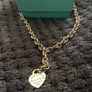 Women's Tiffany choker chain link necklace